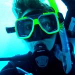 Madame Bougeotte sous l'eau