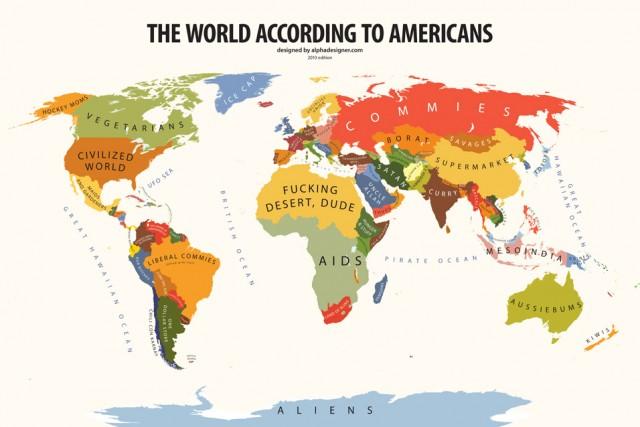 Carte des stéréotypes selon les Américains