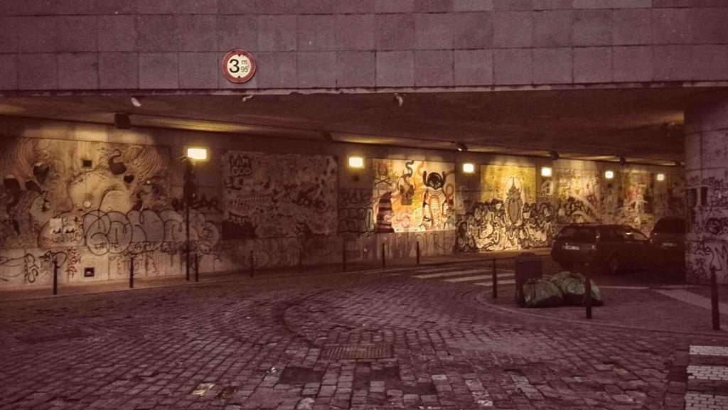 Graffitis à Bruxelles Chapelle