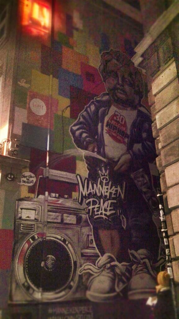 Manneken Peace - Graffiti Bruxelles