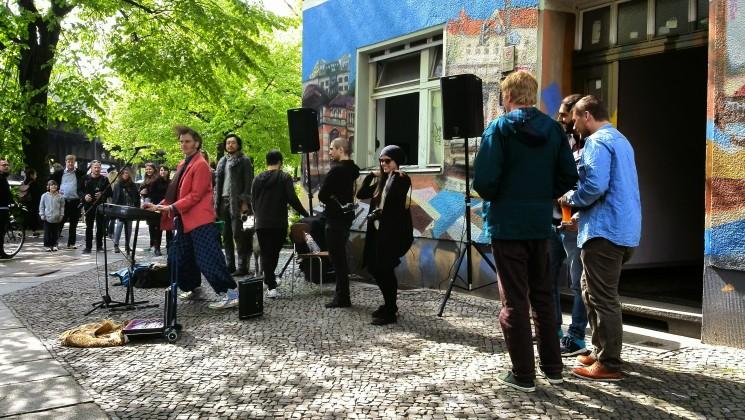 Artiste de rue à Berlin