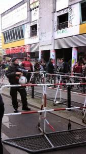 Police déployée à Kreuzberg