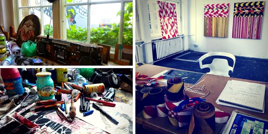 Atelier d'artistes à Berlin