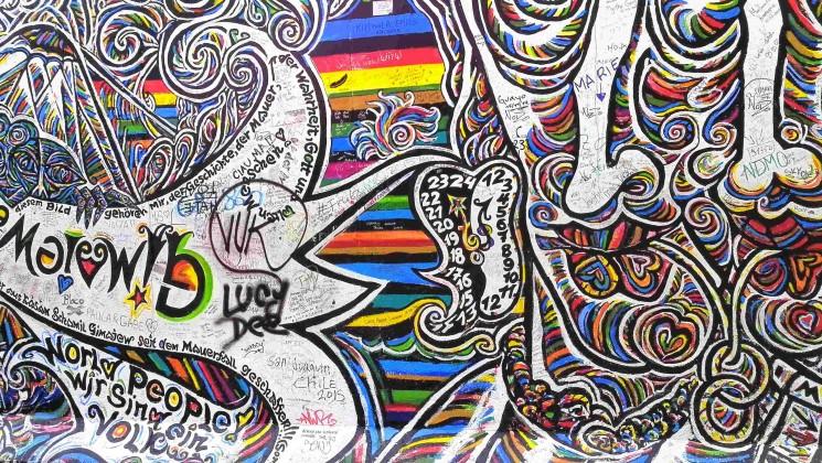 Graffiti mur de Berlin