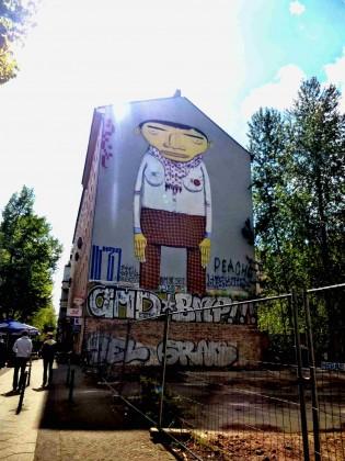 Yellow man, grande fresque à Berlin