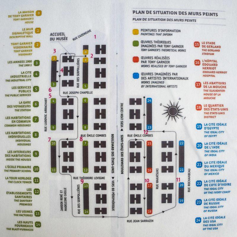 Plan de la visite du Quartier des Etats-Unis