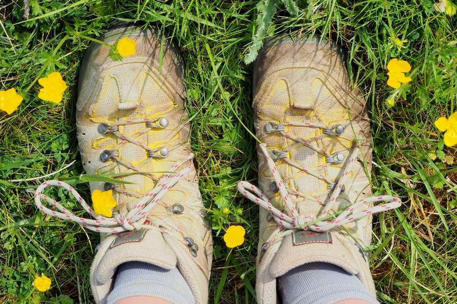 mes pieds sur le GR129