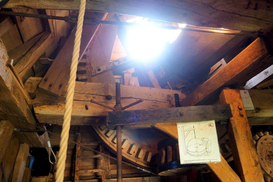 L'intérieur du Moulin du Cat