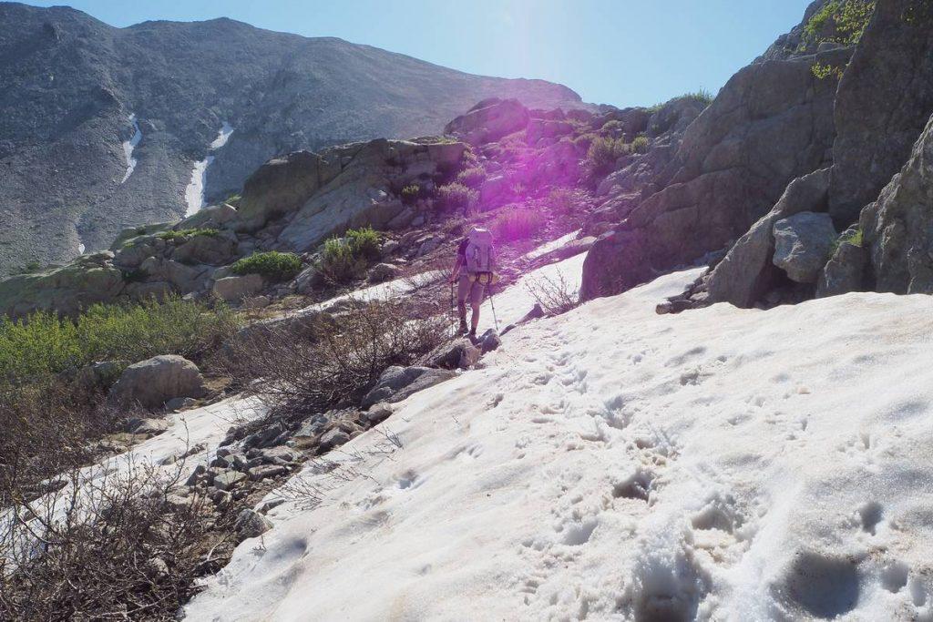 Neige sur le GR20