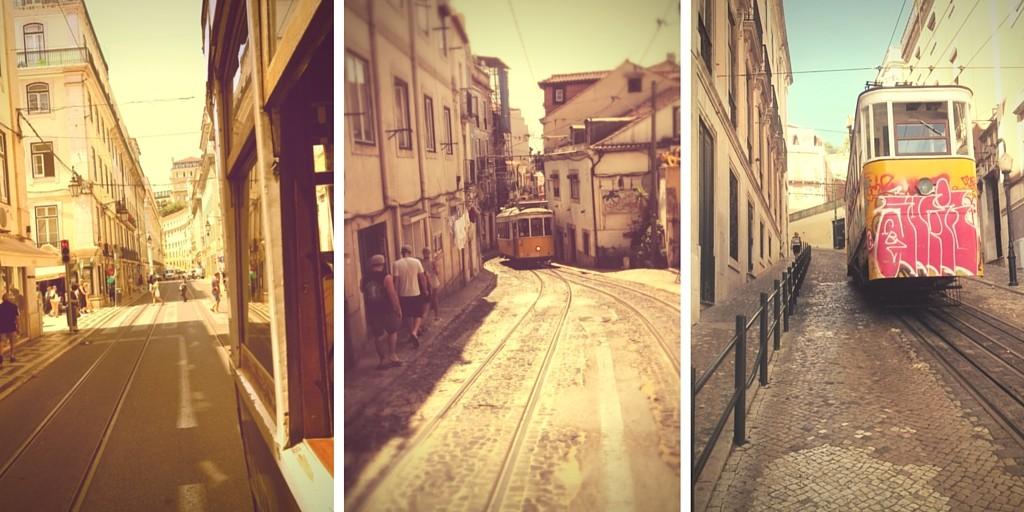Tram, elevator-Lisbonne