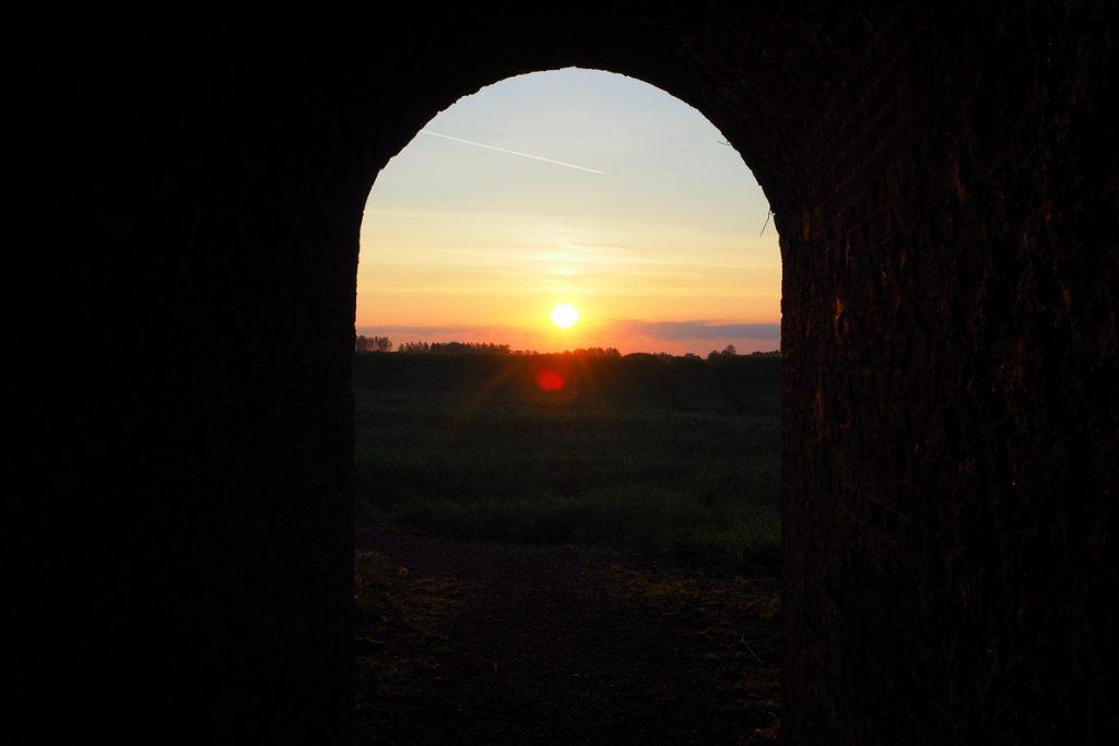 Lever de soleil sur Lens