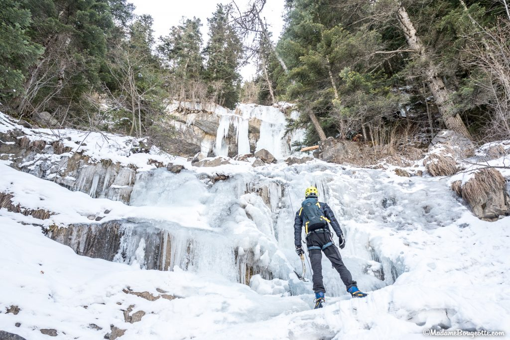 Cascade de glace à Orcières- France